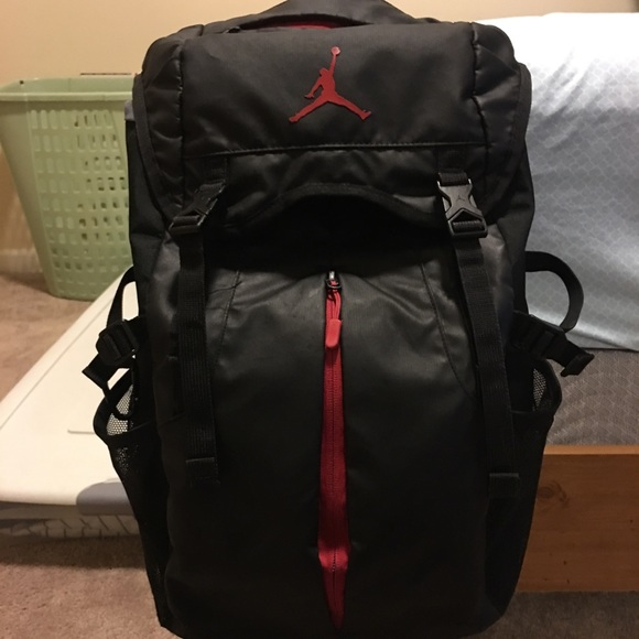 Jordan Other - Jordan Backpack Black With Red Accents